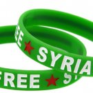 Green Free Syria Country Flag Silicone Rubber Bracelet Sport Unisex Fashion Multi Color Wristband