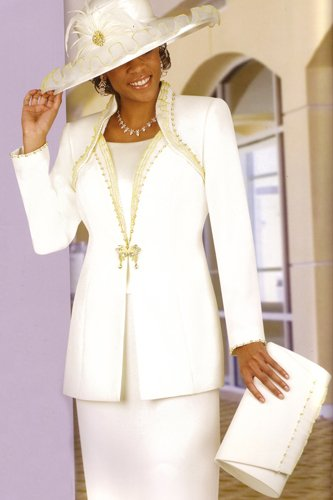 Ivory mother of the bride suit ML3529