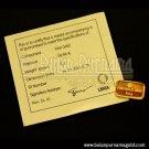 Gold Bullion Bar 2.5 gr 99.99%  with certificate