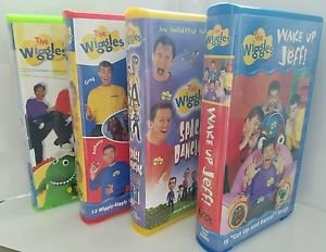 The Wiggles, Collection 4 vhs The: Wake Up Jeff!, (4 VHS, Clam Shell)