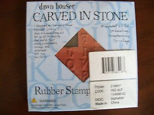 CARVED IN STONE RUBBER STAMPS DAWN HOUSER ALPHABET KIT