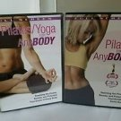 Pilates/ Yoga for Anybody (2 DVD, 2005) combo