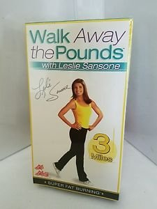 Leslie Sansone - Walk Away the Pounds : 3 Mile super fat burning(VHS, 2003)