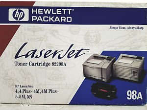 HP 98A (92298A) Black Original LaserJet Toner Cartridge