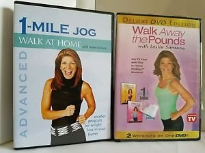 Walk Away the Pounds with Leslie Sansone -Two Workouts On One DVD plus 1mile jog