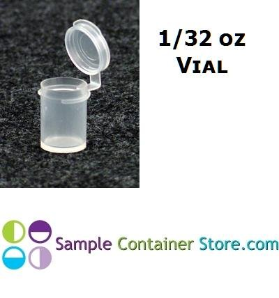 (50) 1/32 Ounce Sample Vial Container