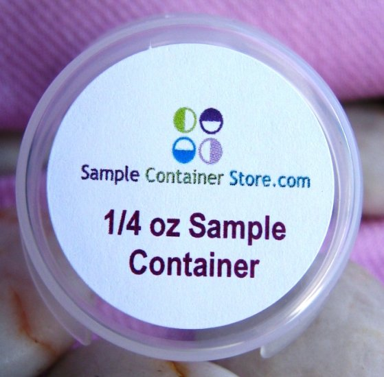 "(48) 1.2"" Custom Laser Printed Labels for 1/4 oz Sample Containers Read entire listing"