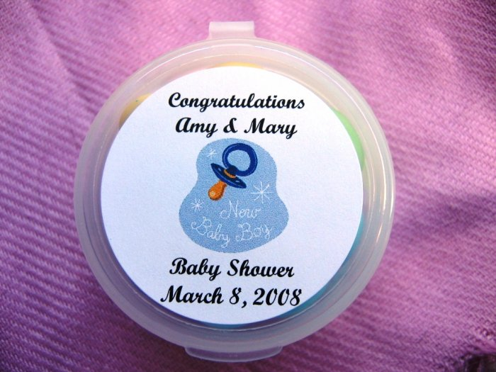 """(24) 1.67"""" Custom Printed Laser Labels for 1 oz Round Sample Container READ entire listing"""