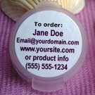 "(120) Custom Glossy Laser Printed 1"" Round Labels Read entire listing for instructions"