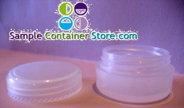 (100) 1/6 oz Natural Cosmetic Jar  w/ Cap
