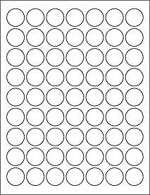 504 1 Round Labels Blank