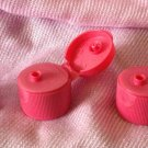 (100) Pink Flip Top Dispensing LIDS Size 20/410 (not returnable)