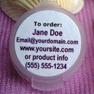 "(440) 1"" Round White Matte Custom Printed laser Labels"