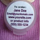 "(60) Custom Laser Printed 1"" Round Labels Read entire listing"