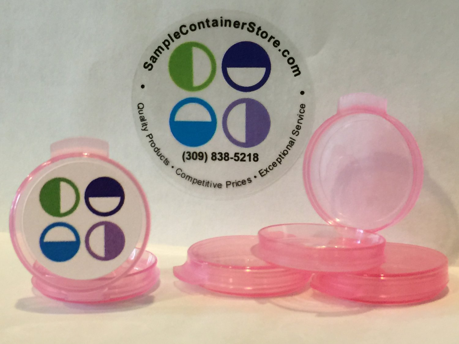 (250) 1/20 oz PINK Sample Containers