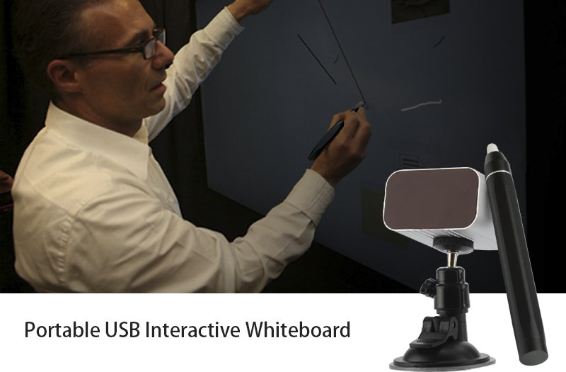 Portable USB Interactive Whiteboard w/2 IR Pens [TD08558B]