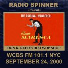 ERNIE MARESCA ON DON K. REED DOO WOP SHOP 9-24-00