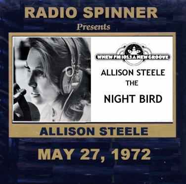 "ALLISON STEELE ""THE NIGHT BIRD"" WNEW 102.7 FM NYC MAY 22, 1972"
