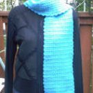 Handmade Turquoise Blue Shimmer Crochet FASHIONABLE SCARF