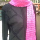 Handmade Hot Pink Shimmer Crochet FASHIONABLE SCARF