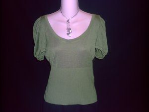 WINDSOR Olive Green Sweater Top Size Large L
