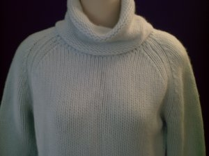 FRENCH CONNECTION Pale Blue Turtleneck Angora Sweater Size L