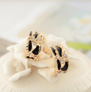 Korean exquisite leopard earrings