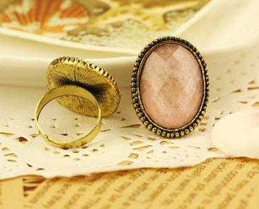 European and American vintage oval slice large gemstone rings Phnom Penh