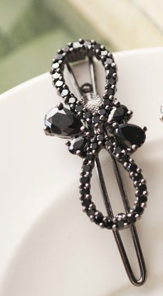 Korean jewelry full diamond bow hair accessories Hairpin