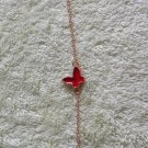 Korean jewelry delicate Butterfly Bracelet red