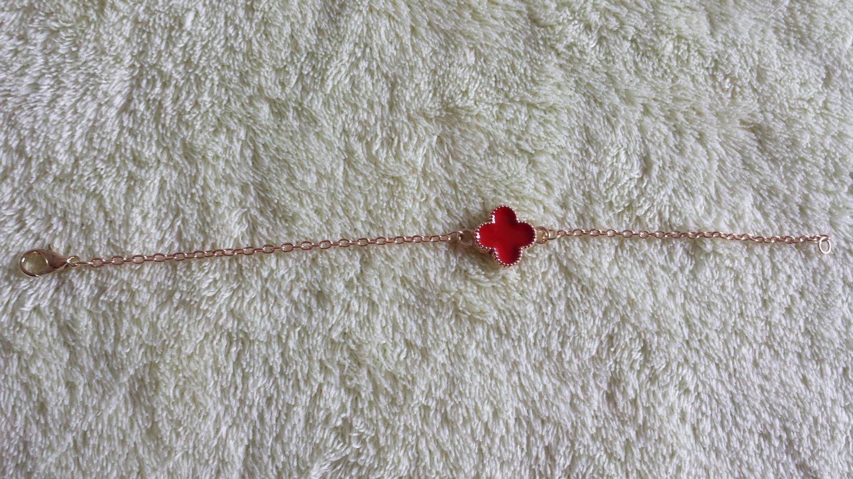 Korean jewelry delicate Plum flower Bracelet red