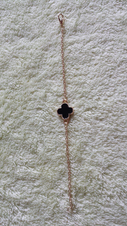 Korean jewelry delicate Plum flower Bracelet black