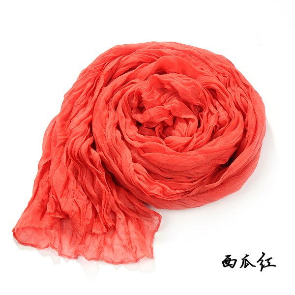 South Korea qiu dong female wild solid color scarves cotton candy-colored scarf shawl fold