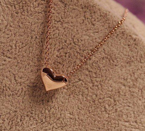 Short gold necklace love necklace