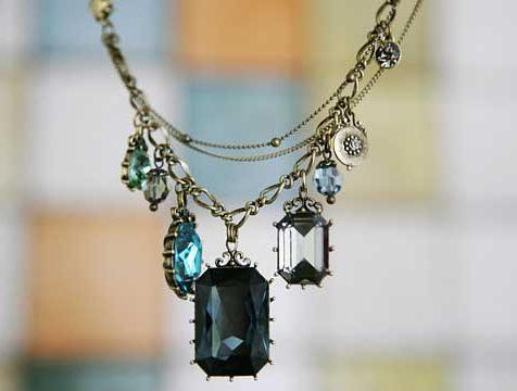 Korean jewelry retro multi-element pure baroque jewel necklace