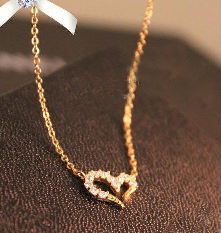 Wishing diamond necklace full of love