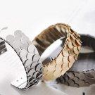 Korean fashion bangle bracelet adjustable scales flake black