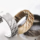 Korean fashion bangle bracelet adjustable scales flake gold