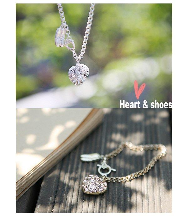 Full diamond bracelet Korean love ballet shoes