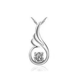 Zircon Hearts and Arrows diamond pendant crystal rhodium Switzerland 20mm * 10mm