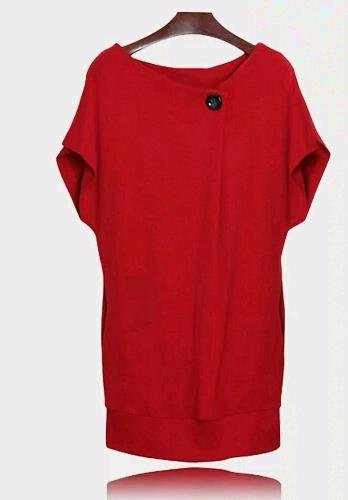 Red Knit Long Top