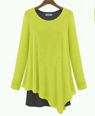 Autumn modal irregular loose long-sleeved T-shirt women fake two-piece shirt bottoming