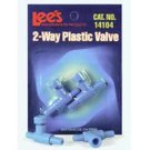 Lee's Aquarium 2 Way Plastic Valve 2 pk.