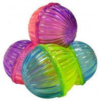 Ethical Pet Products Shimmer Ball with Rattle Beads 4 Pack