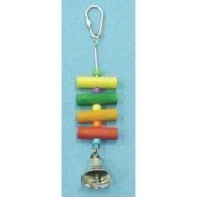 Bird Brianers Bird Toy w/Wood Dowels Beads & Bell