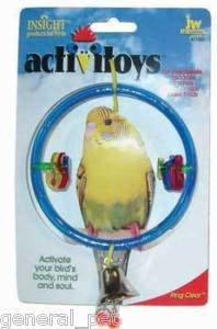 JW Pet Clear Ring Bird Swing Toy Assorted Colors