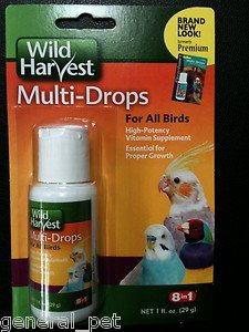8 in 1 Multi-Drops High Potency Multivitamins for All Birds 1 fl oz