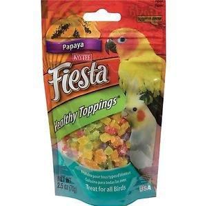 Kaytee Fiesta Healthy Toppings Papaya Treats for all Birds 2.5oz