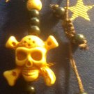 Yellow Skull and Crossbones Bracelet