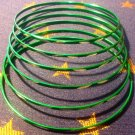 Small Green Frosted Aluminum Bracelet